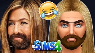 The Sims 4: Blind Create A Sim Challenge | Mennifer Aniston | w/ Kugo the Mighty