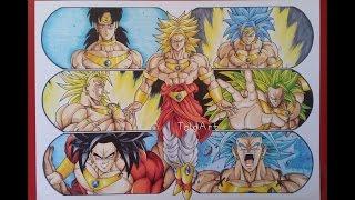 getlinkyoutube.com-Drawing the Evolution of Broly the Legendary Super Saiyan