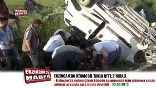 Erzincan'da Köpekten Kaçan Sürücü, Aracıyla Takla Attı