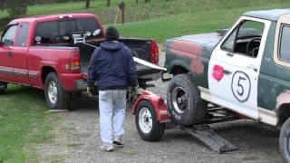 getlinkyoutube.com-winch a vehicle onto a car tow dolly