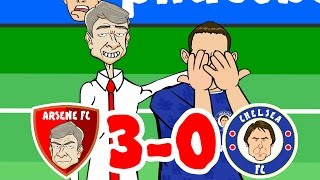 getlinkyoutube.com-Arsenal vs Chelsea 3-0 Goals and Highlights! (2016 Poor Old Chelsea Song)