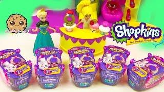 getlinkyoutube.com-Disney Frozen Queen Elsa Unboxing 5 Shopkins Fashion Spree Surprise Blind Bags - Cookieswirlc Video