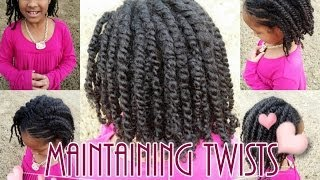 getlinkyoutube.com-How To Maintain Twists on Natural Girls Hair