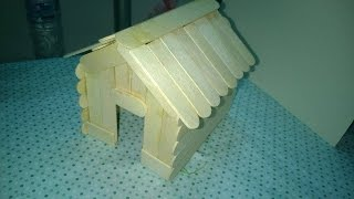getlinkyoutube.com-DIY - Popsicle Stick House Craft Tutorial