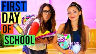 getlinkyoutube.com-What to EXPECT on the First Day of School! BACK TO SCHOOL 2015! Niki and Gabi