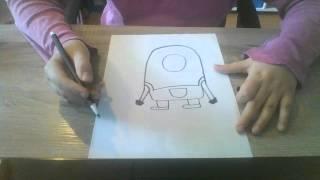 getlinkyoutube.com-hoe teken je een minion  zo leer je tekenen #1