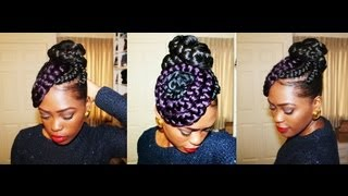 getlinkyoutube.com-Putting My Thought Into Action: Braided Bun N Swirls