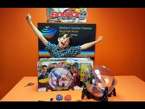 Beyblade Metal Fury Destroyer Dome Unboxing