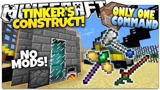 getlinkyoutube.com-Minecraft | TINKER'S CONSTRUCT | Custom Tools & Weapons! | Only One Command (One Command Creation)