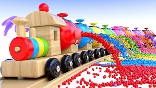 Learn Colors with Preschool Toy Train and Color Balls - Shapes & Colors Collection for Children width=