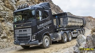 getlinkyoutube.com-Volvo FH 16 750 Euro 6 with tipper semitrailer - test drive  in the quarry