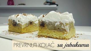 getlinkyoutube.com-Prevrnuti kolac sa jabukama