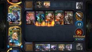 getlinkyoutube.com-Deck Heroes: Gauntlet Level 15 Battle! (7k Power)