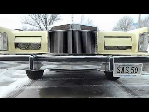 1978 Lincoln Continental Mark V headlight door operation and some revving