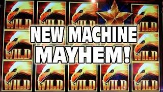 getlinkyoutube.com-NEW MACHINE MAYHEM -- NEW GAMES!!!  New Slots!! New Bonus Wins!!!
