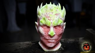 getlinkyoutube.com-The Night King - Best Watermelon Carving - Game Of Thrones