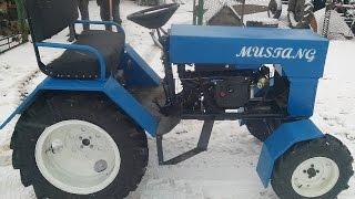 getlinkyoutube.com-Минитрактор из мотоблока зубр. Трактор MUSTANG.