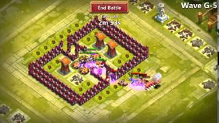 getlinkyoutube.com-Castle Clash wave G setup. TH 15 only hero