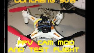 getlinkyoutube.com-JUNCHENG 3015 Mini Drone - FPV CAM MOD And Test Flight