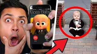 BOSS BABY CALLED ME THEN CAME TO MY HOUSE !?!?! (Boss Baby Games)