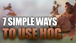 7 Easy Ways To Use Hogs That You Can Use | TH9 Hog War Strategies | Clash Of Clans