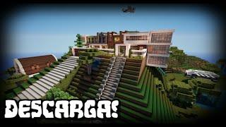 getlinkyoutube.com-Minecraft: Mansión Moderna, funcional y automática! + Descarga | Make your House #1