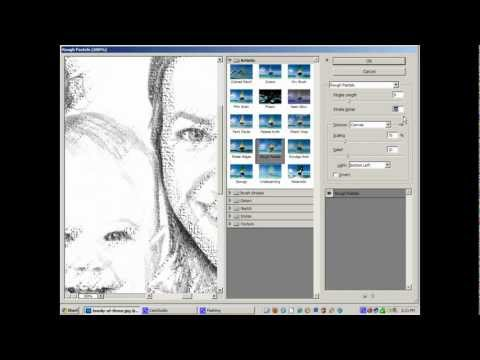 Photoshop Tutorial - line drawing from a photo