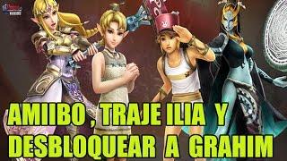Hyrule Warriors Amiibo - Traje Ilia (Zelda) y desbloquear a Grahim (modo aventura)