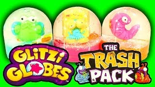 getlinkyoutube.com-Glitzi Globes Trash Pack Mash Up How To Make Snow Globe Trashies Toy Hack & Fan Prize
