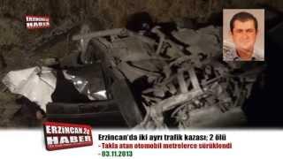 Erzincan'da İki Ayrı Trafik Kazasında 2 Kişi Öldü