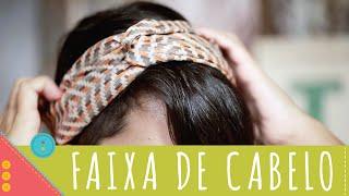 getlinkyoutube.com-Como costurar faixa de cabelo passo a passo Descomplica!