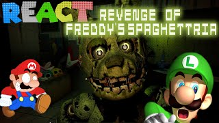 LUIGIKID REACTS TO: RETARDED 64: REVENGE OF FREDDY'S SPAGHETTRIA by SMG4