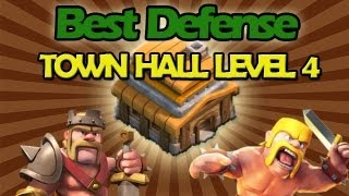 getlinkyoutube.com-BEST Town Hall Level 4 Defense Strategy for Clash of Clans+  Low Level Raiding Strategy!