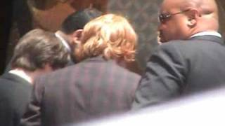 Rupert Grint, Emma Watson, Daniel Radcliffe leaving after HandWand/Foot Ceremony