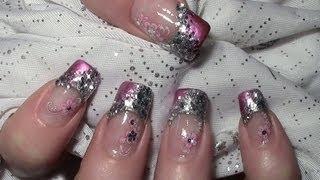 getlinkyoutube.com-Metallic Glitter Nageldesign mit Water Nail Tattoos zum selber machen Tutorial / Nägel lackieren