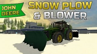 getlinkyoutube.com-Farming Simulator 2015- John Deere Snow Plowing/ Snow Blowing Mod!