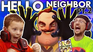 getlinkyoutube.com-WE SCARED OUR BLIND NEIGHBOR!?  FGTEEV Scary Hello Neighbor Kids Horror Game Part 2 (Alpha 2 Update)