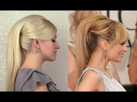 Nicole Richie's hair tutorial High ponytail with extensions Hairstyles for prom party 2012