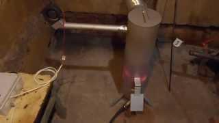 getlinkyoutube.com-Печь на отработанном масле (отработке) 10кВт с маслонасосом . Отопление гаража.