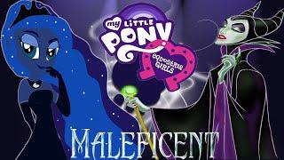 getlinkyoutube.com-MLP Equestria Girls Princess Luna Like Disney Queen Maleficent My Little Villain Dress Up Game