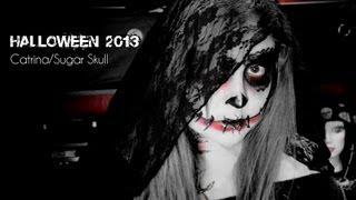 getlinkyoutube.com-Catrina Makeup y Disfraz Facil y Economico para Halloween!