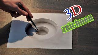 getlinkyoutube.com-3D zeichnen Illusion malen/ Zeitraffer