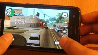 Samsung Galaxy S2 Android 4.3.1 GTA San Andreas Gameplay
