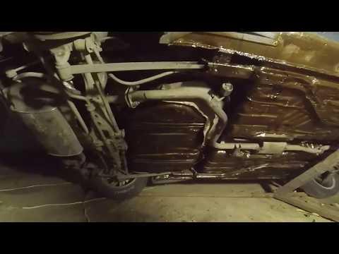 Осмотр обработанного днища антикором автомобиля MAZDA 323