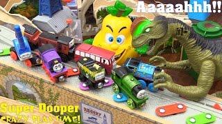 Dinosaur Toy! A Dilophosaurus Eating Thomas the Tank Engine & Friends! Thomas Wooden Railway Trains