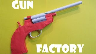 getlinkyoutube.com-How to Make a Paper Revolver that shoots Paper bullet - Easy Tutorials