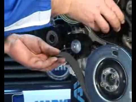 Проверка и замена агрегатных ремней двигателя