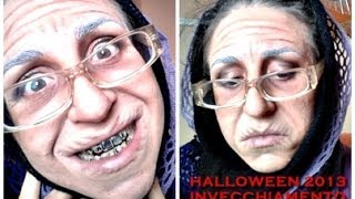getlinkyoutube.com-INVECCHIAMENTO TUTORIAL HALLOWEEN /ELDERLY WOMAN