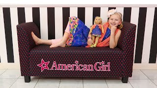 Alyssa's First American Girl || Girls Day Out at the American Girl Cafe & Doll Hair Salon!