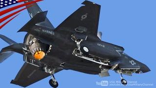 getlinkyoutube.com-【大迫力】F-35ステルス戦闘機の垂直着陸・在日米軍岩国基地